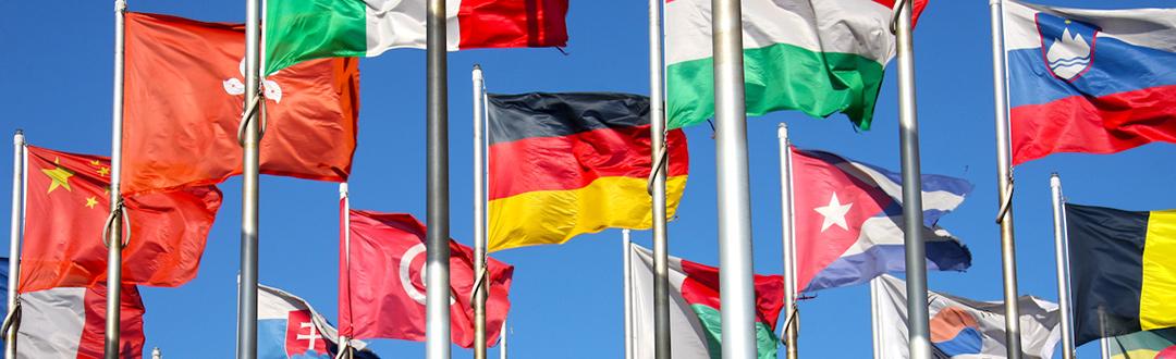 Des drapeaux internationaux