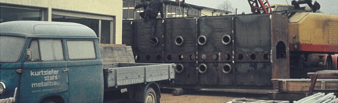 Site de production KMA Umwelttechnik des années 1970