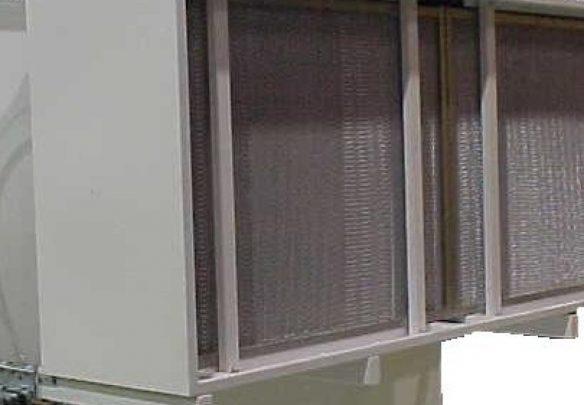 Cassettes Hepa exposées dans le filtre mécanique