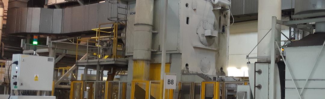 Systèmes de filtration d'air vicié pour forgeages et presses.