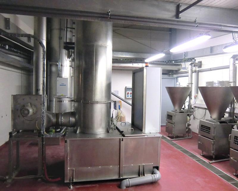 Des fumoirs industriels combinés avec le système de filtration KMA AAIRMAXX®.
