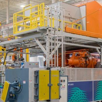 Filtre d'évacuation d'air KMA installé dans la fonderie de Nemak