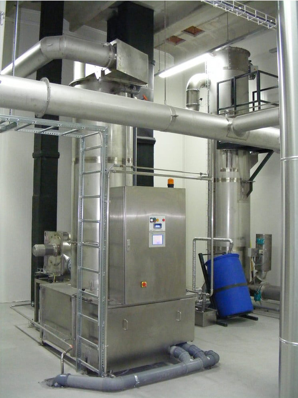 KMA AAIRMAXX® connecte au fumoir industriel
