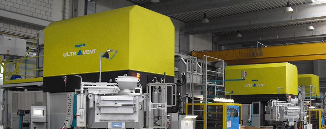Systèmes de filtration d'air décentratlisé de KMA Umwelttechnik en mode circulation d'air