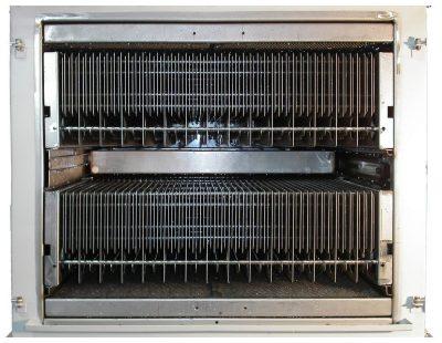 Les élements électrofiltrants de KMA aprèsle cycle de nettoyage du système de nettoyage du filtre (CIP).
