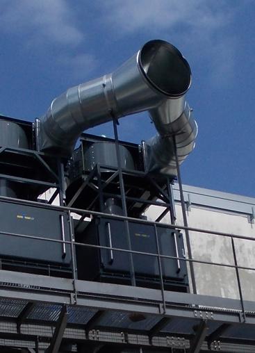 Le système KMA ULTRAVENT © en mode d'évacuation d'air.