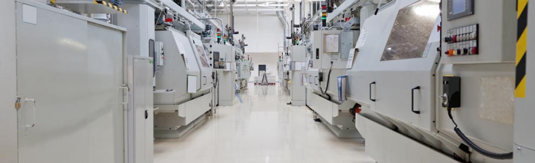 Machines CNC dans une usine