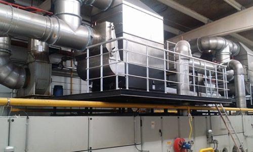 Resultat de système de filtration de KMA pour la récuperation de chaleur au rame textile.