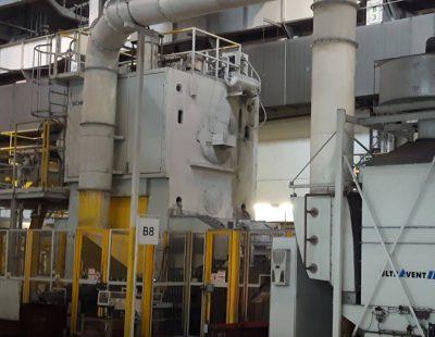KMA propose des systèmes de filtration de l'air d'échappement pour la forge et le pressage