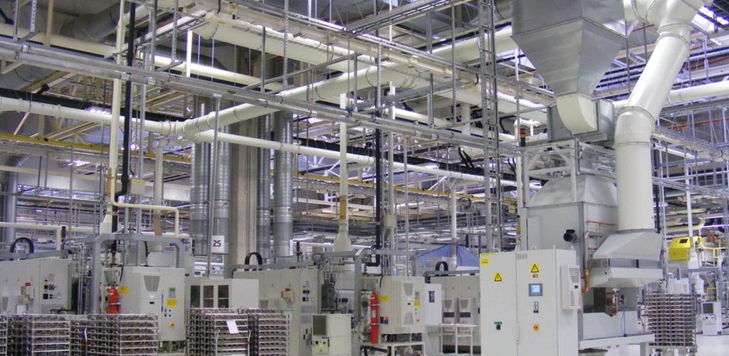 Usines de production en industries de métaux